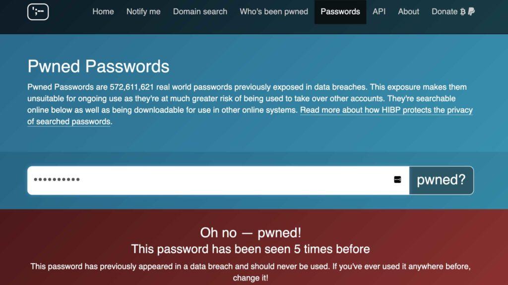 Passwort gehackt?