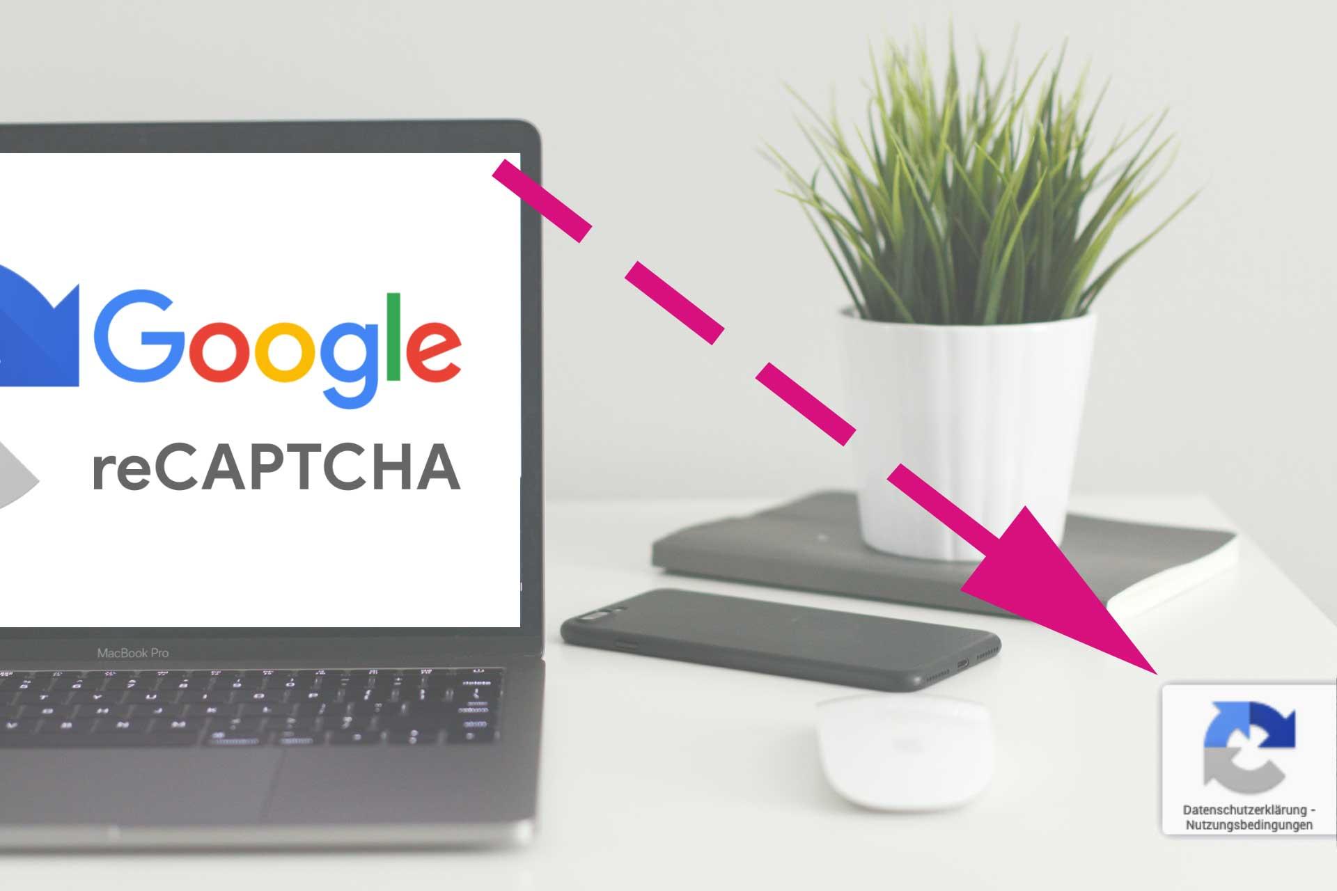 Google reCaptcha v3 verstecken und verbergen