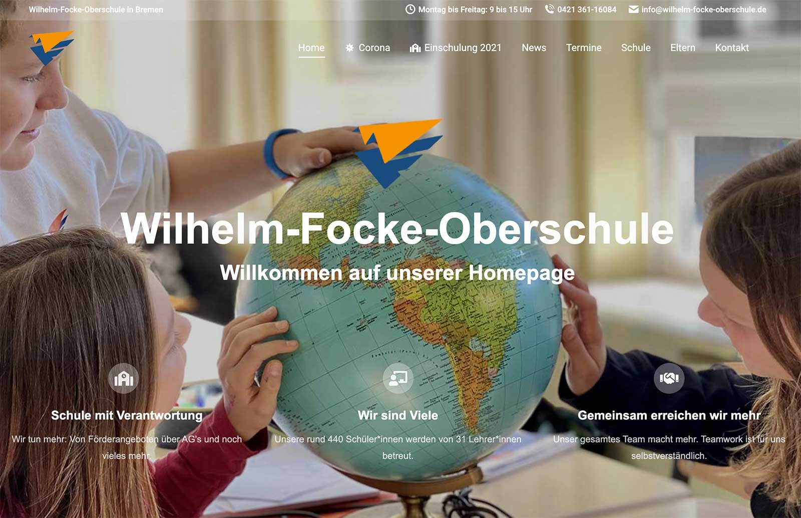 Wilhelm-Focke-Oberschule - Neue Homepage